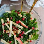 Kale Pomegranate Salad with Honey Mustard Dressing - A ...