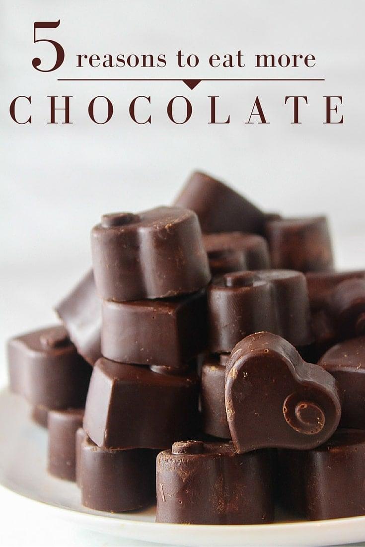 Homemade Dark Chocolate + 5 reasons to eat more chocolate!