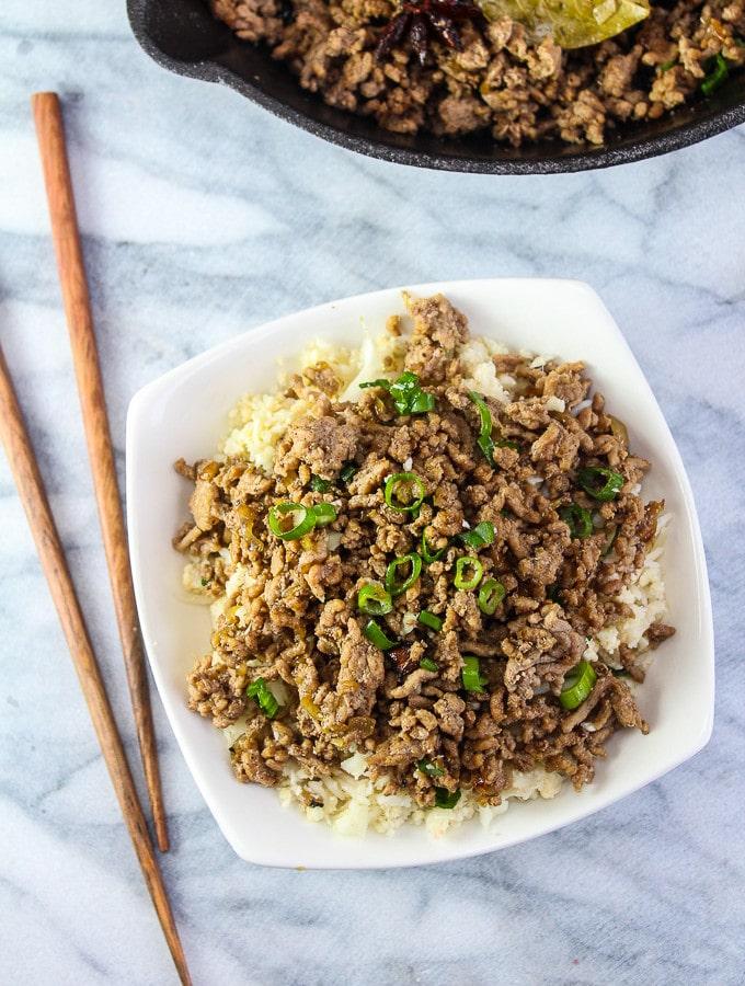 Taiwanese Minced Pork over Rice