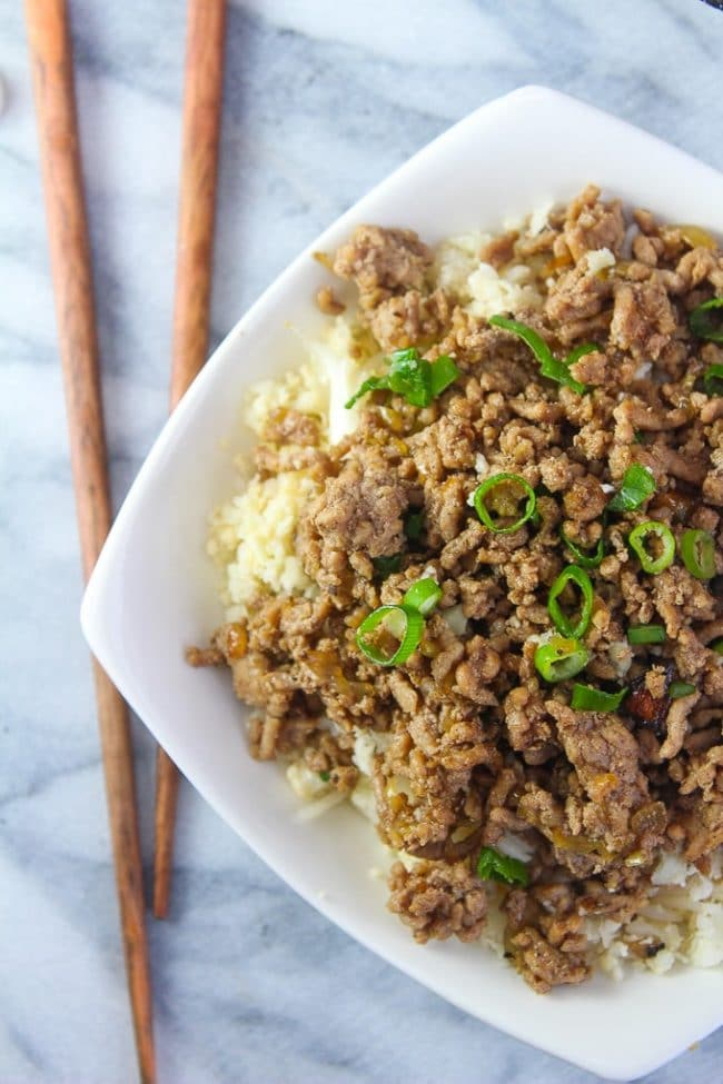 Taiwanese Minced Pork in a bowl
