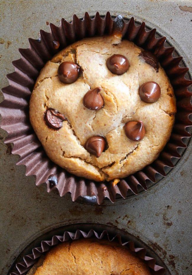 Almond Butter Blender Muffins