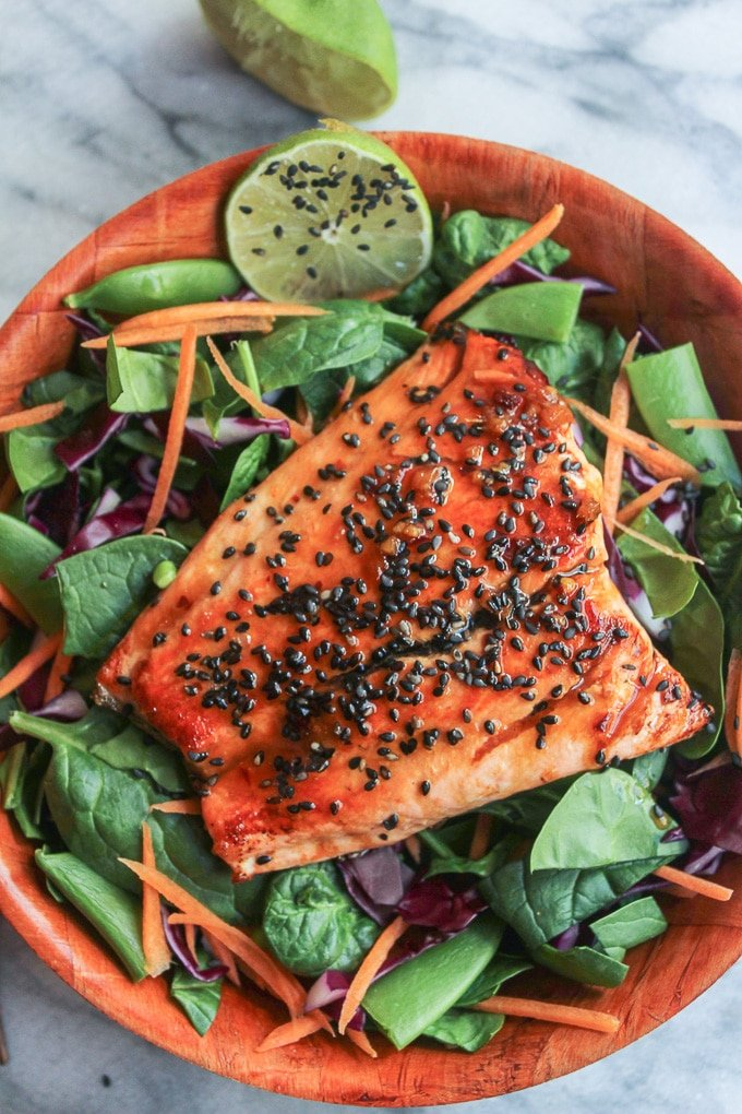 Honey Lime Salmon | easy + healthy 15 minute dinner that's gluten free & paleo friendly