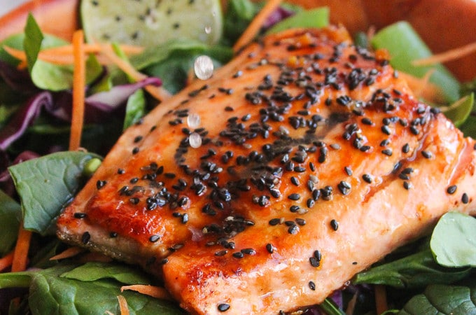 Honey Lime Salmon | gluten free & paleo friendly