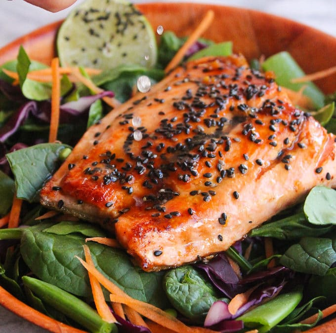 Honey Lime Salmon Fillets