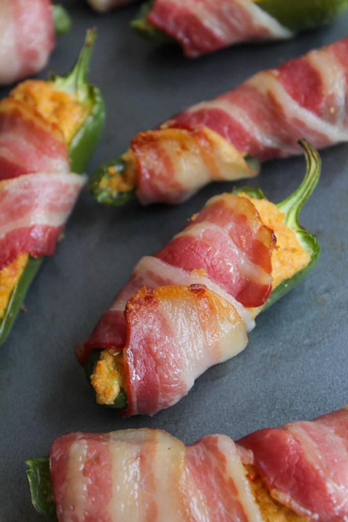 Paleo Jalapeño Poppers stuffed with a dairy free cashew cream