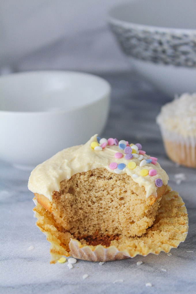 Single Serve Vanilla Cupcake - Two ways