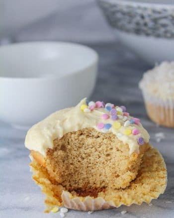 Single Serve Vanilla Cupcake – Two ways