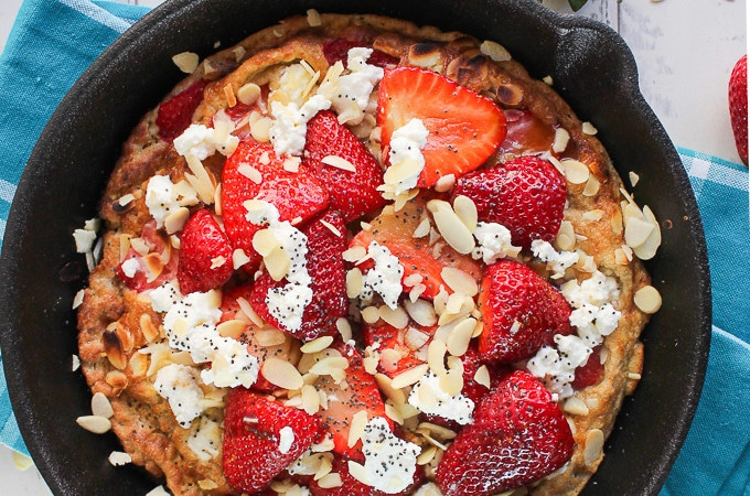 Strawberry Almond Sweet Frittata