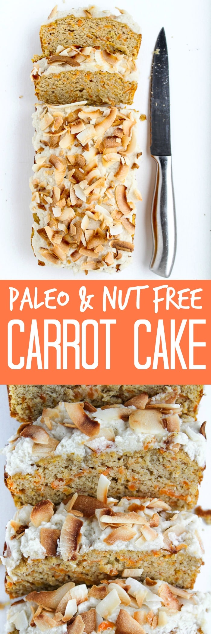 Nut Free Paleo Carrot Cake A healthier, gluten free and dairy free alternative to carrot cake!