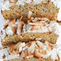Paleo Carrot Cake with a Coconut Cream Frosting