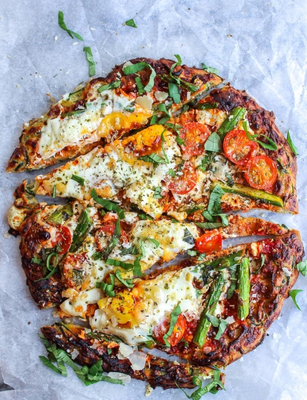 Zucchini Crust Breakfast Pizza