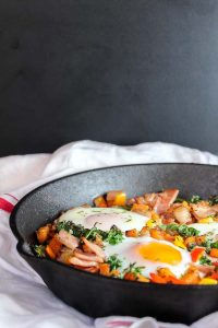 Bacon Kale & Sweet Potato Hash | A Saucy Kitchen