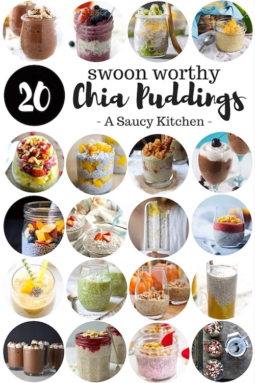 20 Swoon Worthy Chia Pudding Recipes | Gluten Free, Vegan, and Paleo options