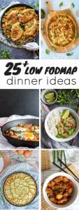 low fodmap diet dinner recipes pin graphic