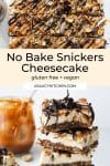 No Bake Snickers Cheesecake PIN GRAPHIC