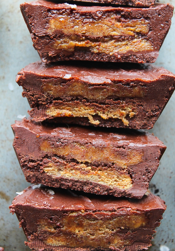 Double Decker Almond Butter Cups – made with six ingredients! Paleo ...