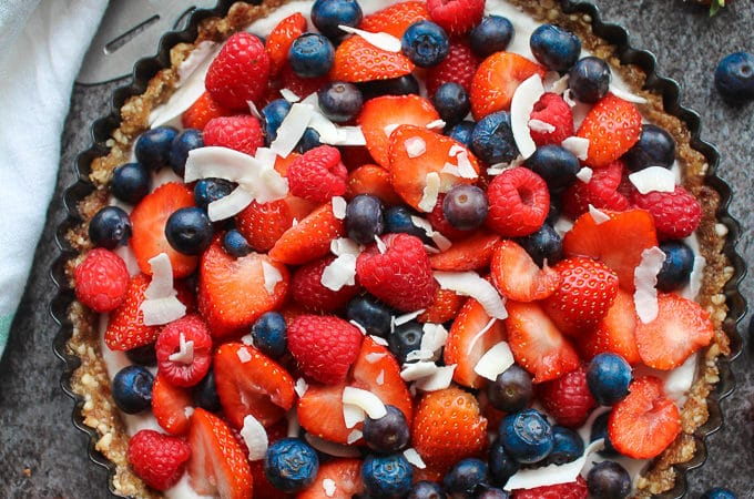 Mixed Berry & Coconut Cream Pie