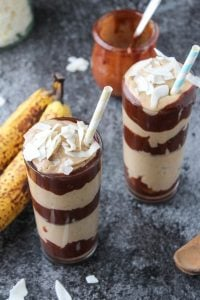 Peanut Butter Banana Coconut Milk Shake with Chocolate
