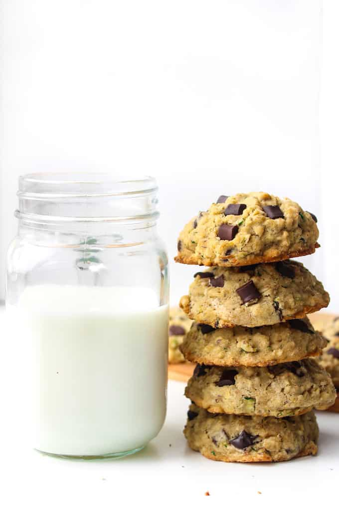 Chocolate Chip Oat Zucchini Cookies + Video
