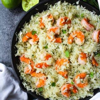 Cilantro Lime Rice & Shrimp