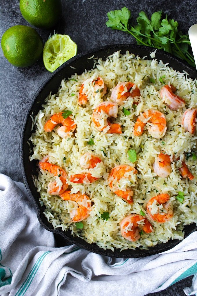 Cilantro Lime Shrimp & Rice