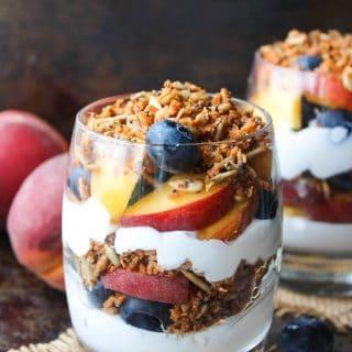 Paleo Blueberry & Peach Parfait