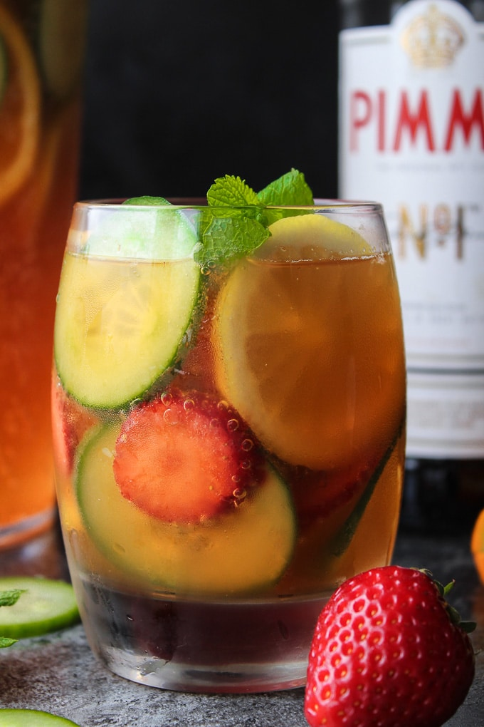 Classic Pimm's Cup - a must have British summer cocktail. Sweet, spicy, and incredibly refreshing!