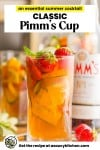 Pimm's cup pin graphic