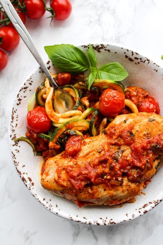 Tomato Basil Garlic Chicken