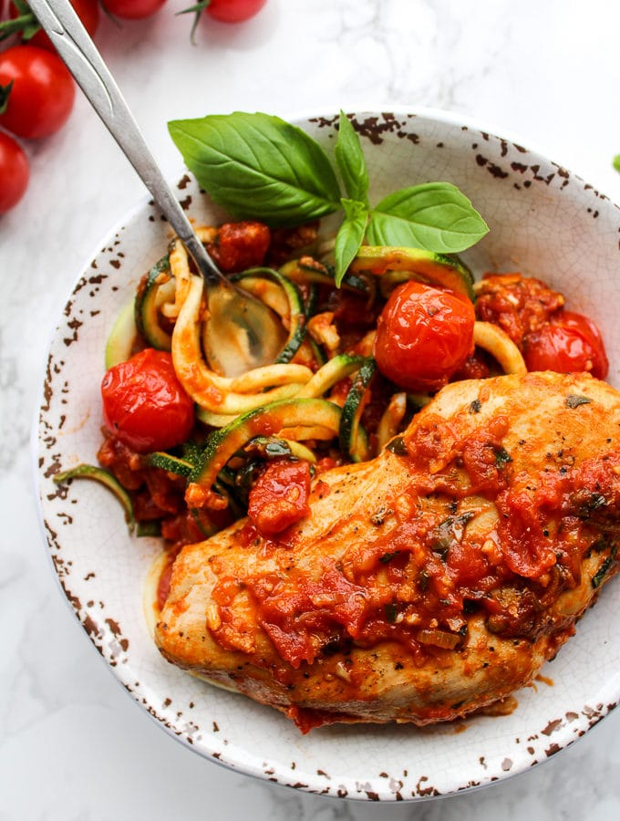 Tomato Basil Garlic Chicken