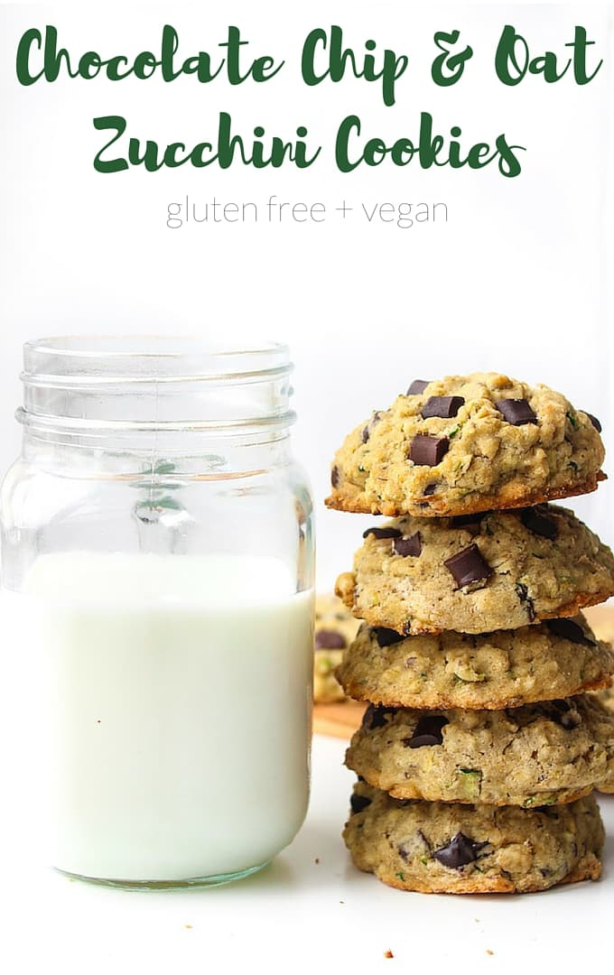 Chocolate Chip and Oat Zucchini Cookies – a quick and easy one bowl recipe! Gluten Free, Vegan & Low FODMAP