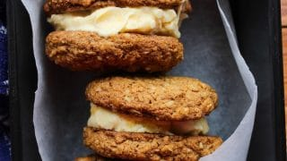 Oatmeal Cookies + Ice Cream Sandwiches
