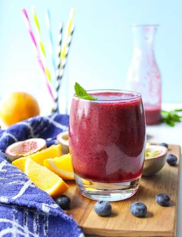 Blueberry Orange & Passionfruit Smoothie