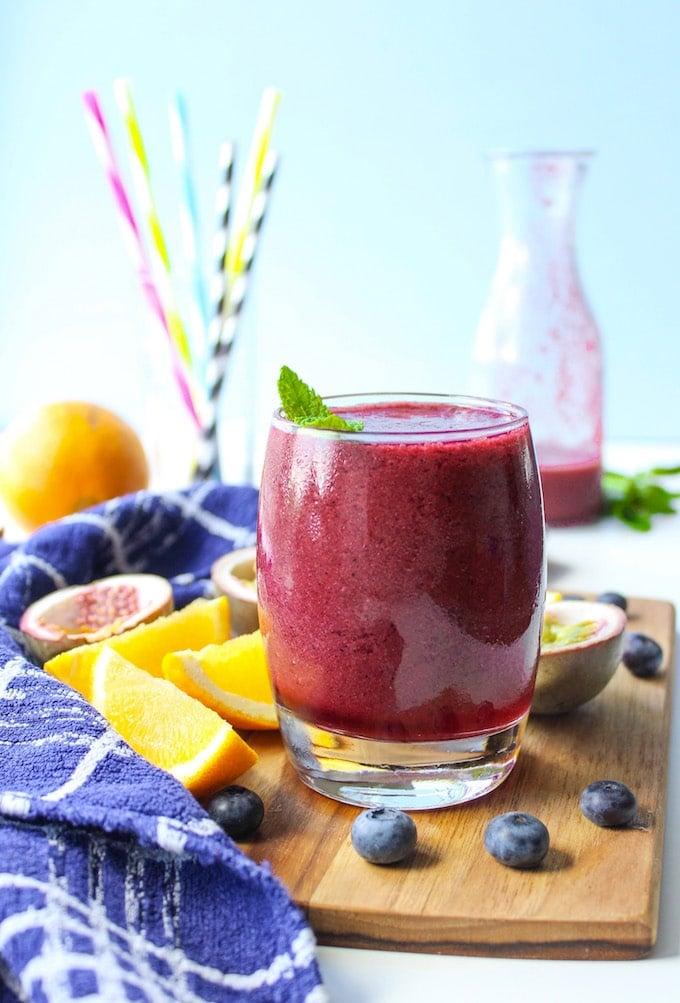 Passion fruit Blueberry & Orange Smoothie
