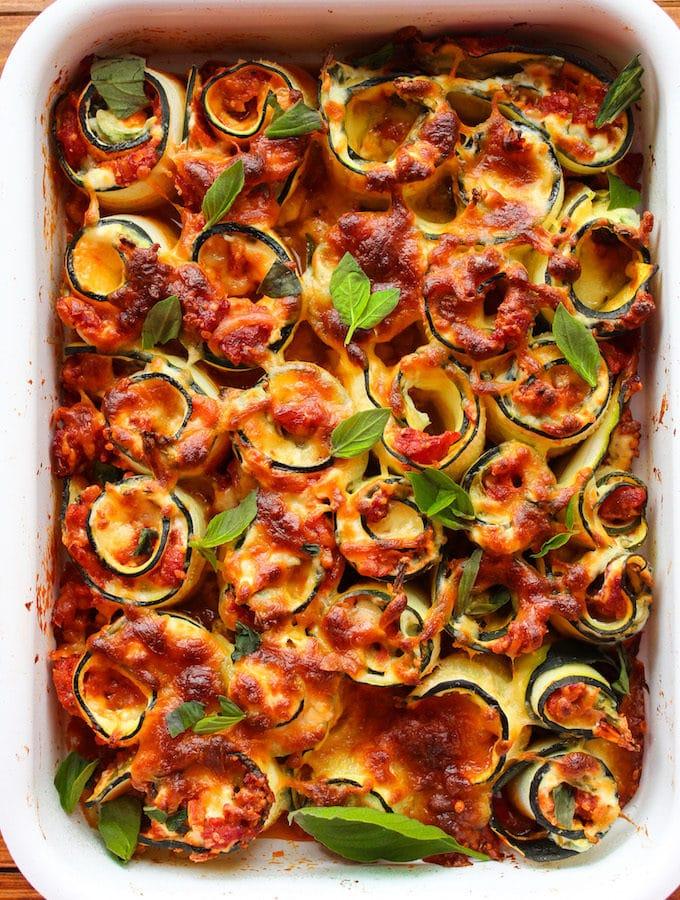 Vegetarian Zucchini Lasagna Spirals