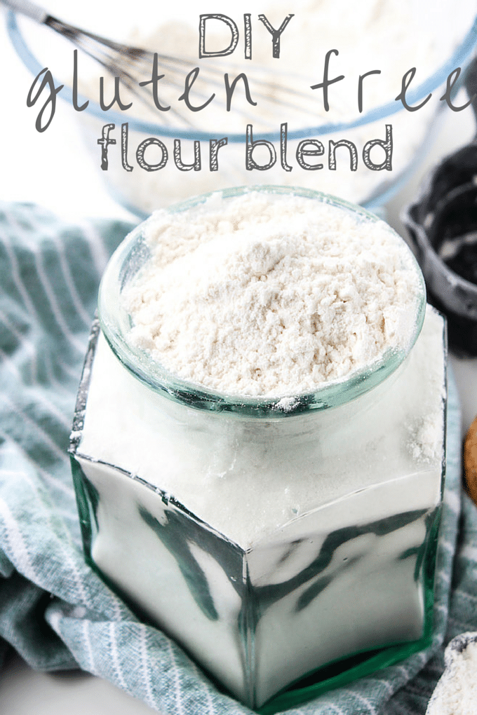 Homemade Gluten Free Flour Blend | Easy to make flour blend - great for baking cookies, muffins, cakes, and more