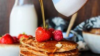 Vegan Buckwheat & Oat Pancakes