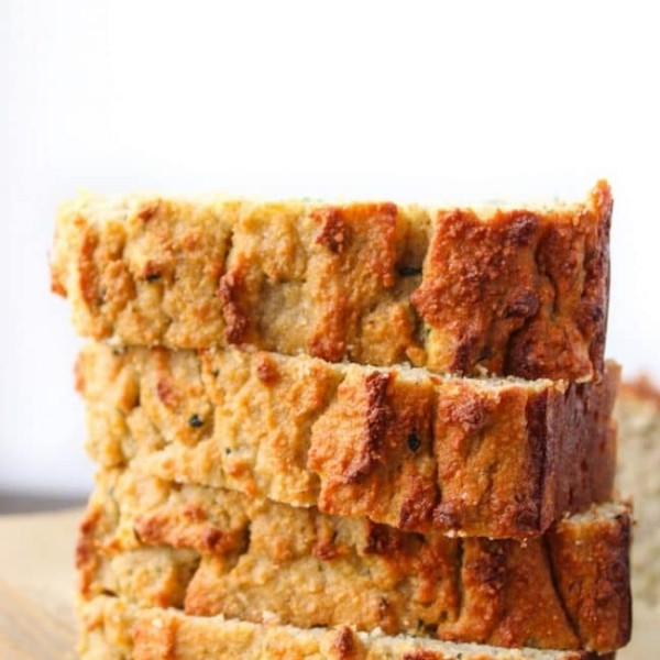 Paleo Zucchini Bread slices stacked