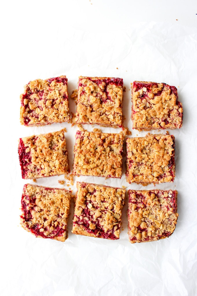 Raspberry Crumble Bars – double the crumble surrounding a sweet and ...