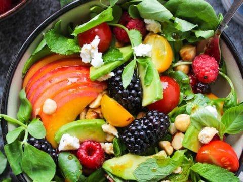 Fruit Nut Summer Salad A Saucy Kitchen