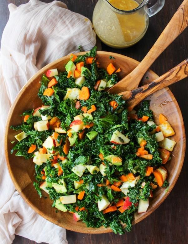 Carrot Apple & Kale Salad