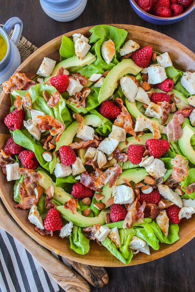 Chicken Avocado & Raspberry Salad
