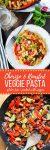 Chorizo & Roasted Veggie Pasta | gluten free + packed with veggies