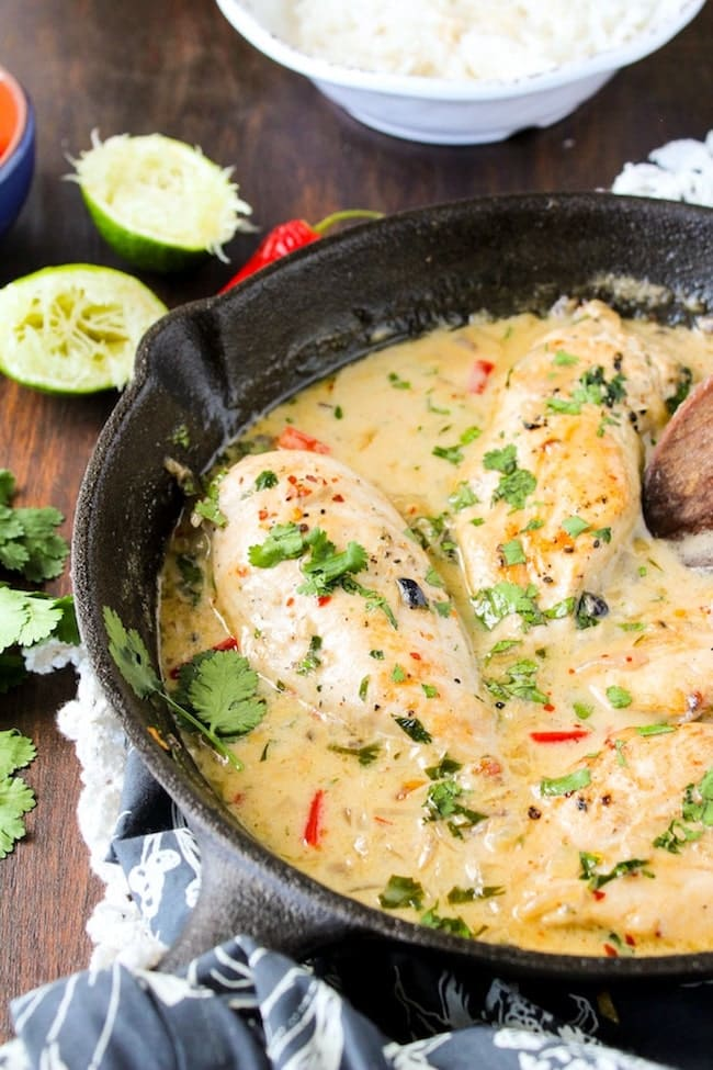Coconut Lime Chicken A Saucy Kitchen