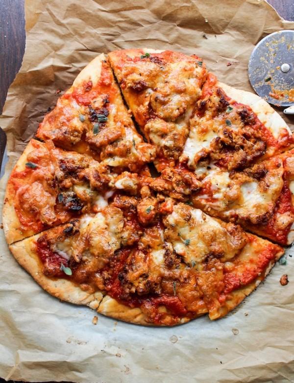Gluten Free Pizza with Chorizo Sausage