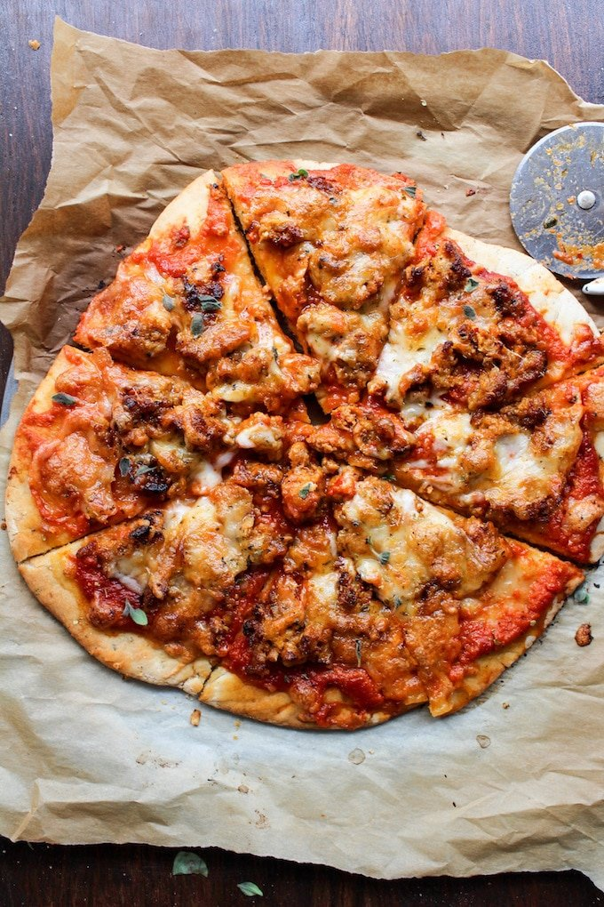 Gluten Free Pizza with Chorizo Sausage