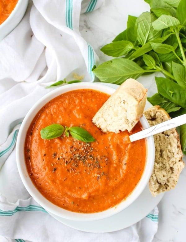 Creamy Roasted Tomato Soup | gluten free + vegan + paleo