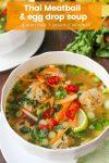 thai meatball egg drop soup