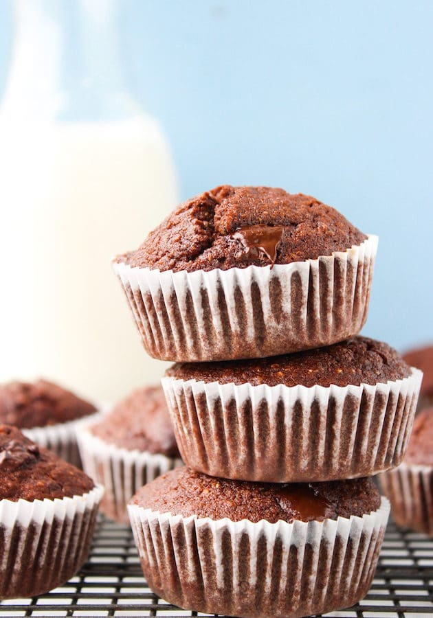 Chocolate Chia Seed Muffins