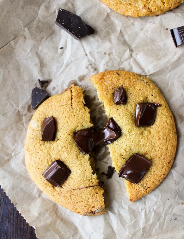 Chocolate Chunk Chickpea Flour Cookies